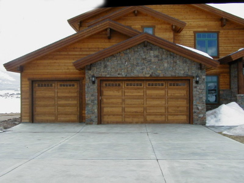 Light Wood Garage Door Utah