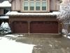 Steel Garage Doors Painted Like Wood