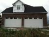 White Garage Doors on New House