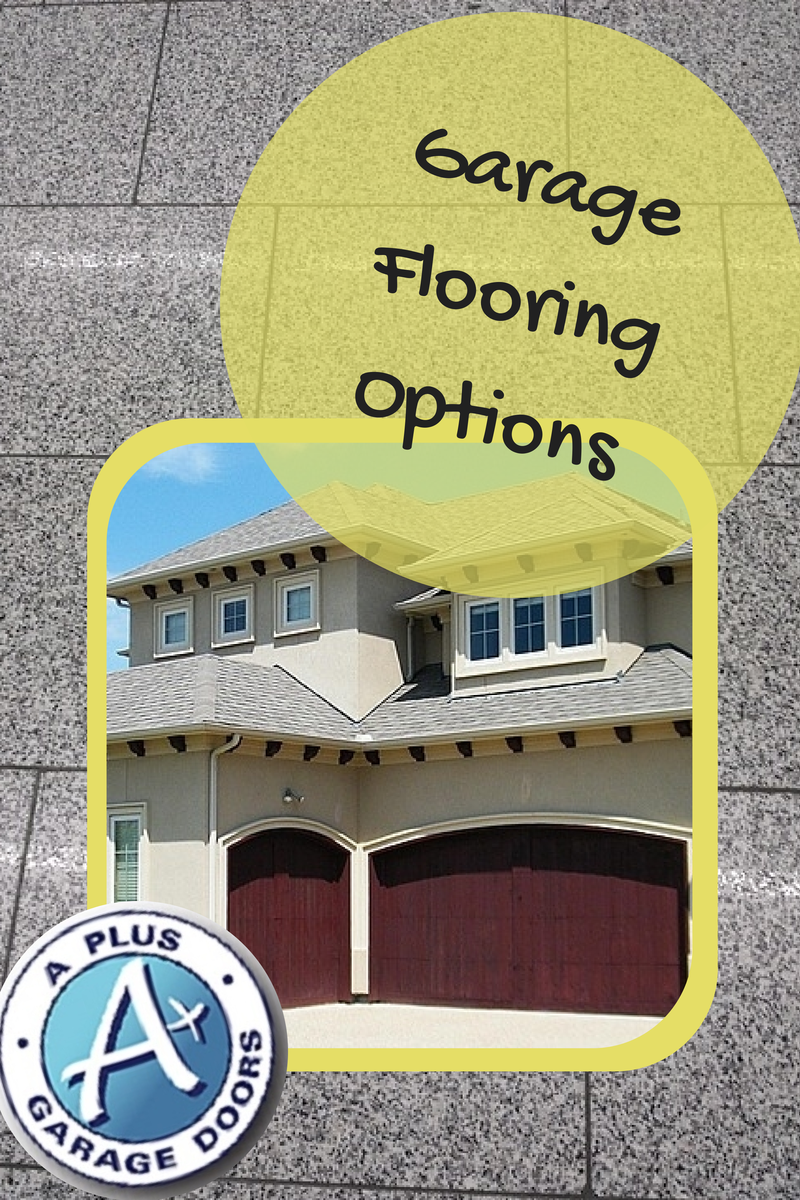 Garage flooring options a garage doors for Garage door repair roy utah