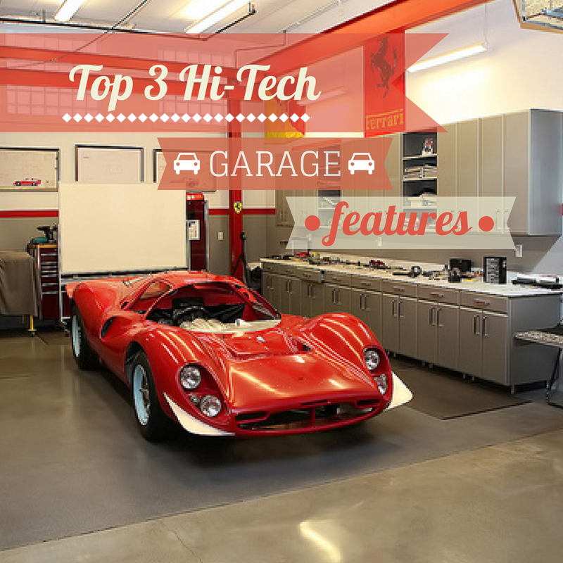 High tech garage features a garage doors for Garage door repair roy utah