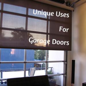 garage door special uses