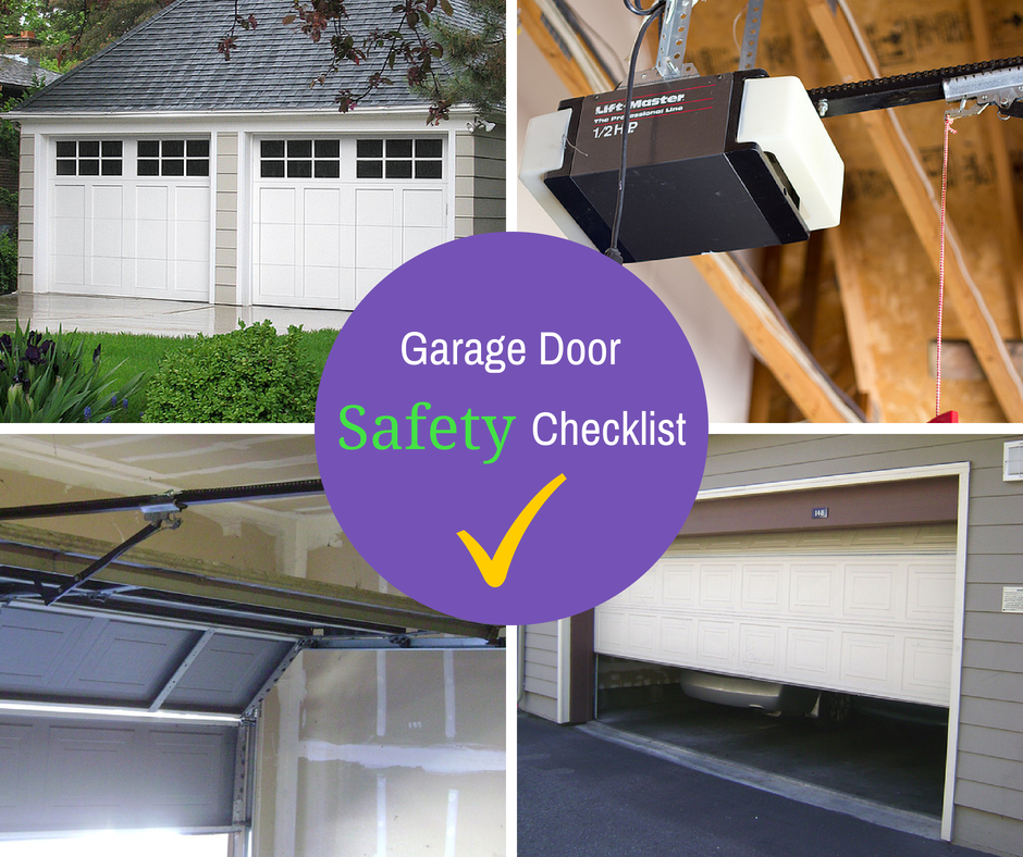 Garage door safety checklist a garage doors for Garage door repair roy utah