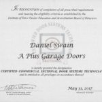IDEA Certificate A Plus Garage Door