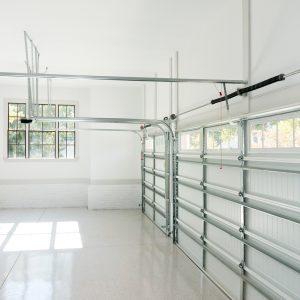 empty white garage