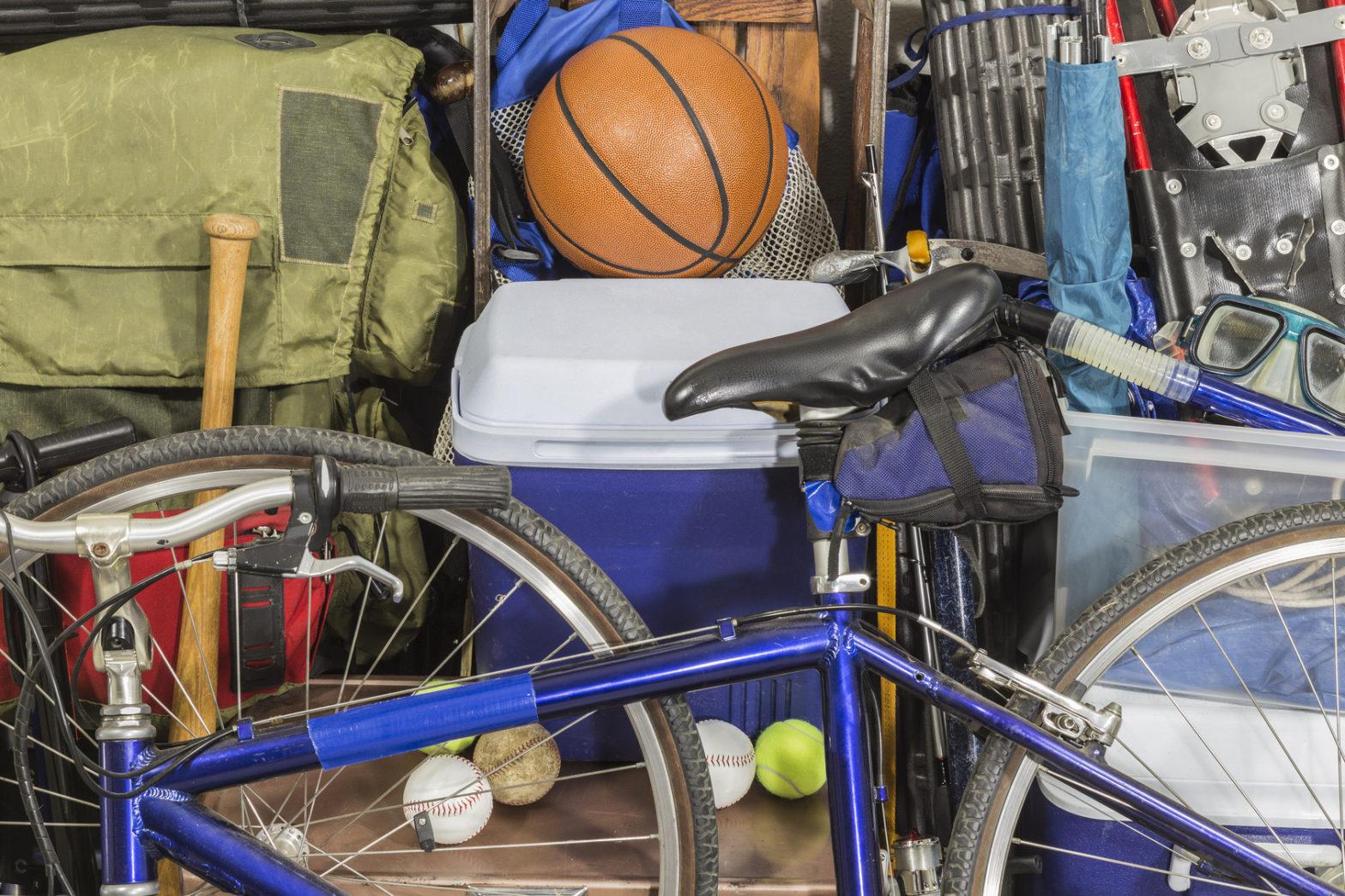 sports equipment garage