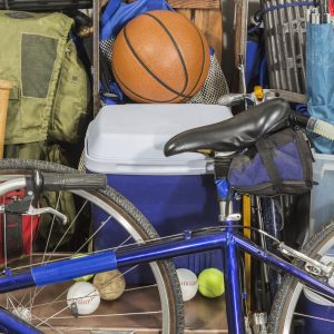 sports equipment garage