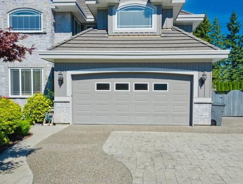 A nice garage door with acrylic windows