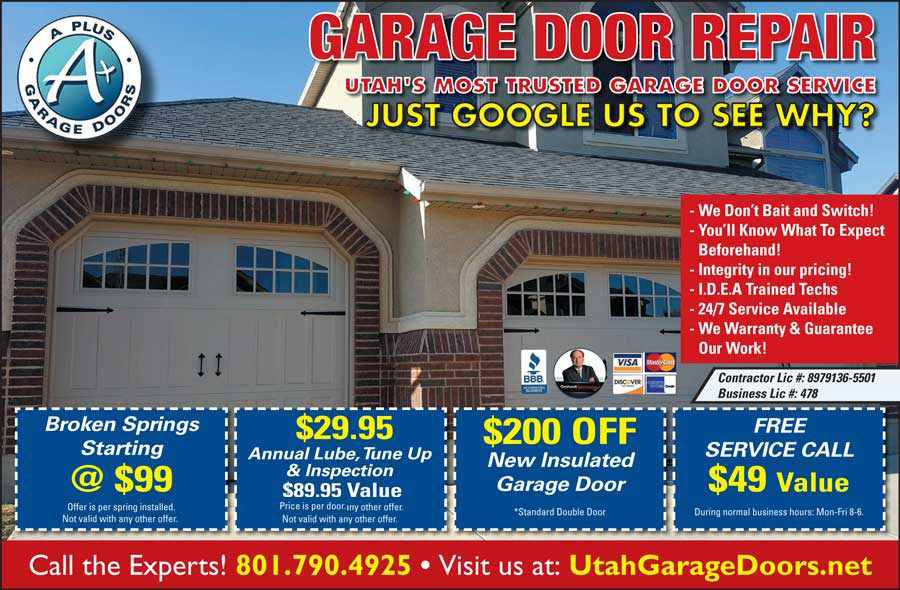 Coupons With Great Deals Mean Value A Plus Garage Doors