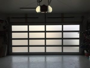 frosted glass garage door light utah