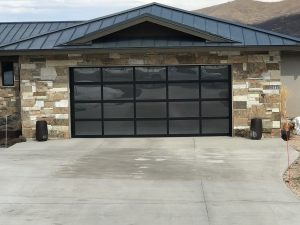 glass garage door utah