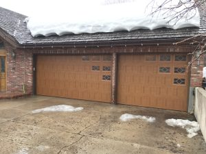 wood grain garage door with windows utah 03