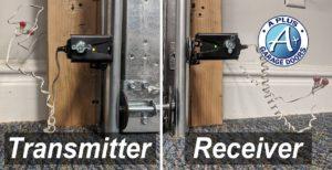 garage door safety sensor lights